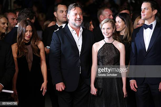 Actress Murielle Telio actor Russell Crowe actress Angourie Rice and actor Matt Bomer attend 'The Nice Guys' premiere during the 69th annual Cannes...