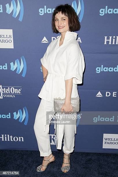 Actress / musician Alison Sudol arrives at the 26th annual GLAAD media awards at The Beverly Hilton Hotel on March 21 2015 in Beverly Hills California