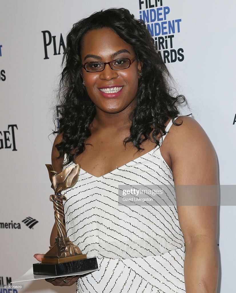 Actress Mya Taylor attends 2016 Film Independent Spirit Awards Press Room on February 27, 2016 in Santa Monica, California.