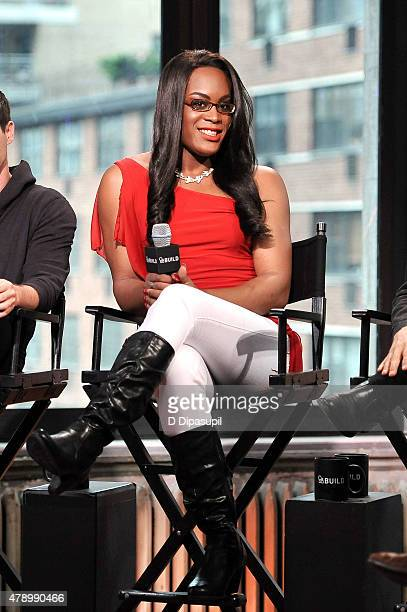 Actress Mya Taylor attends AOL BUILD Speaker Series Meet the cast of Tangerine at AOL Studios In New York on June 29 2015 in New York City