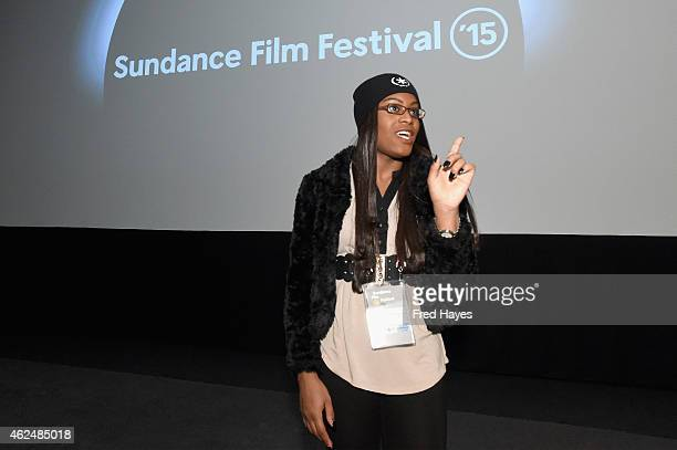 Actress Mya Taylor attends the Tangerine screening Q A during the 2015 Sundance Film Festival on January 29 2015 in Park City Utah