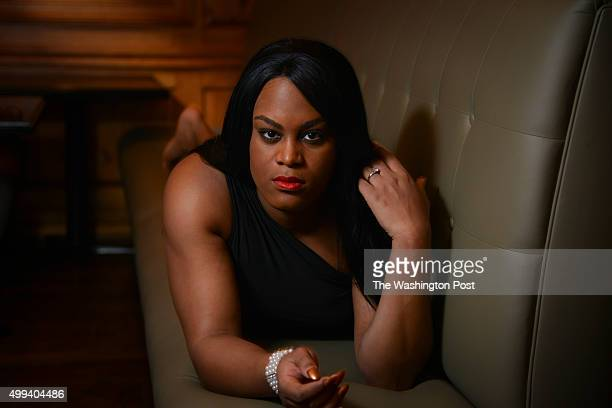 Actress Mya Taylor star of the movie Tangerine is pictured at The Fairfax Hotel Grille and Lounge on Monday November 23 in Washington DC Movie...