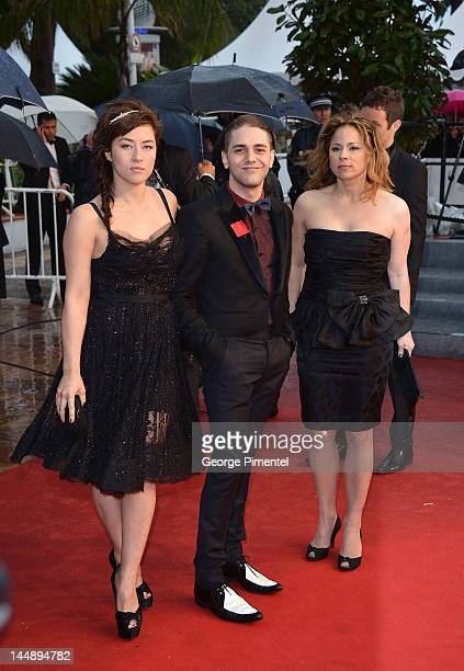 Actress Mylene Jampanoi director Xavier Dolan and actress Suzanne Clement attend the 'Amour' Premiere during the 65th Annual Cannes Film Festival at...