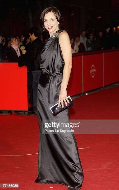 Actress Myriam Catania attends a premiere for 'L'uomo Privato' during day 7 of the 2nd Rome Film Festival on October 24 2007 in Rome Italy
