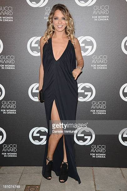 Actress Myriam Catania attends the Gucci Award for Women in Cinema at The 69th Venice International Film Festival at Hotel Cipriani on August 31 2012...