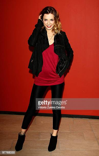Actress Myriam Catania attends Tutto L'Amore Del Mondo Milan Photocall on March 16 2010 in Milan Italy