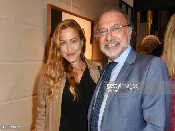 Actress Myriam Charleins and Olivier Dassault attend JonOne Paintings Exhibition Preview Hosted by Natacha Dassault and Olivier Dassault at Not A...