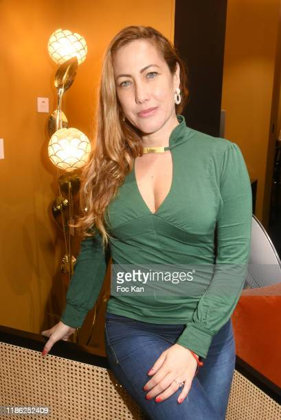 Actress Myriam Charleins attends the Red X BHV Marais Ephemere Boutique Launch Party on November 07 2019 in Paris France