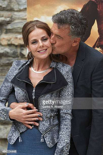 Actress Myriam Gallego and actor Francis Lorenzo attend Aguila Roja new season photocall during the 7th FesTVal Television Festival 2015 at the...