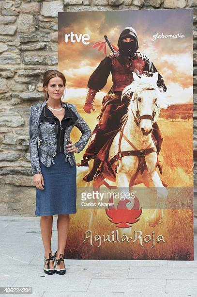 Actress Myriam Gallego attends Aguila Roja new season photocall during the 7th FesTVal Television Festival 2015 at the EscoriazaEsquivel Palace on...