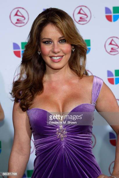 Actress Myrka Dellanos arrives at the 6th Annual Latin Grammy Awards at the Shrine Auditorium on November 3 2005 in Los Angeles California