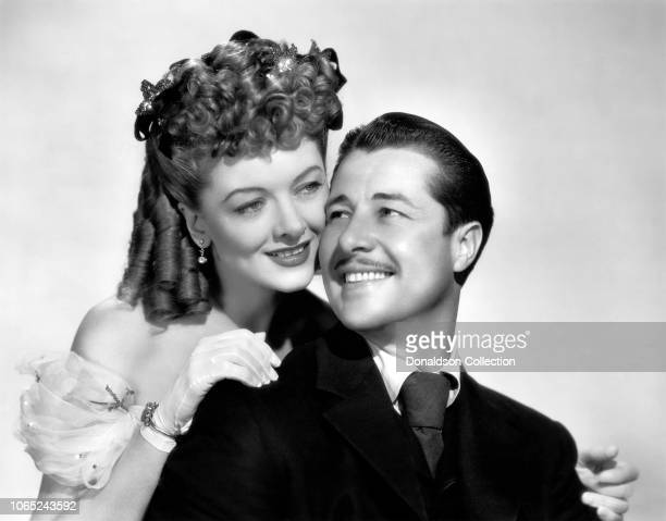 Actress Myrna Loy and Don Ameche in a scene from the movie So Goes My Love