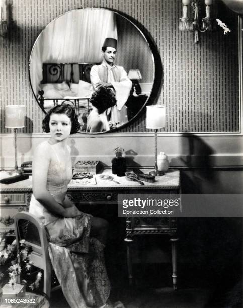 """Actress Myrna Loy and Ramon Novarro in a scene from the movie """"The Barbarian"""""""
