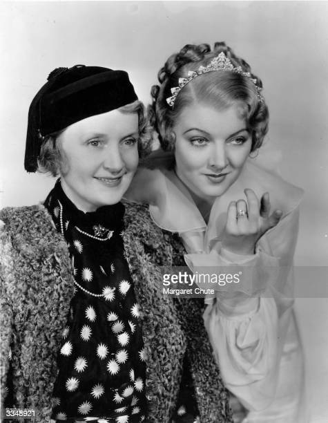 Actress Myrna Loy chosen to play the role of Billie Burke in 'The Great Ziegfeld' with the real life Billie Burke actress and widow of the famous...