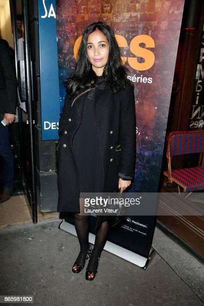 Actress Nabiha Akkari attends 'Alphonse President' Screening the new series of OCS at Cinema L'Etoile Saint Germain on October 24 2017 in Paris France