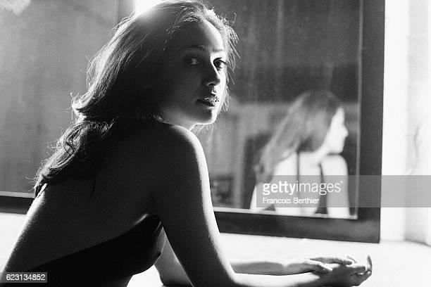 Actress Nabiha Akkari is photographed for Self Assignment on October 14 2016 in Paris France