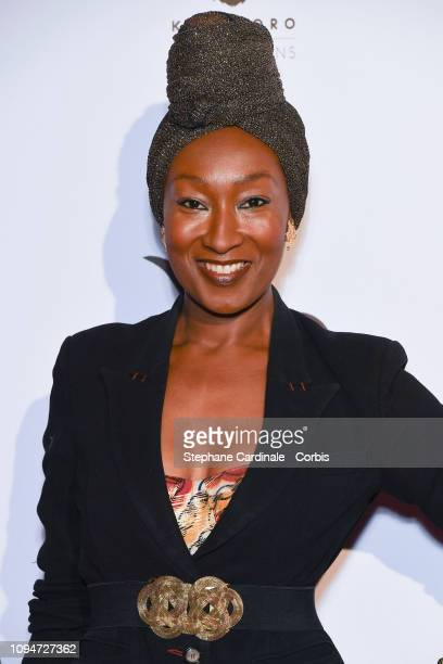 Actress Nadege BeaussonDiagne attends 'Yao' Paris Premiere at Le Grand Rex on January 15 2019 in Paris France