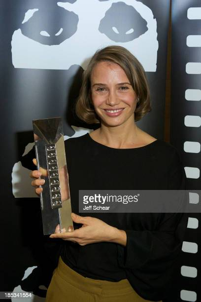 Actress Nadeshda Brennicke attends the awards ceremony at the 2013 Chicago International Film Festival at W Chicago on October 18, 2013 in Chicago,...