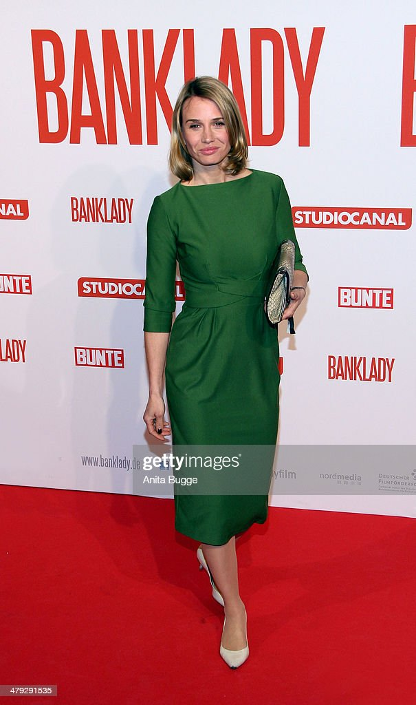 Actress Nadeshda Brennicke attends the 'Banklady' premiere at Kino International on March 17, 2014 in Berlin, Germany.