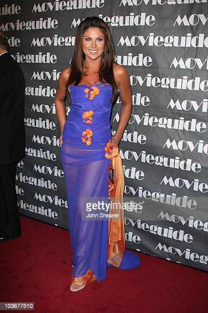 Actress Nadia Bjorlin arrives to the 16th Annual Movieguide Faith and Values Awards at the Beverly Hilton on February 12 2008 in Beverly Hills...