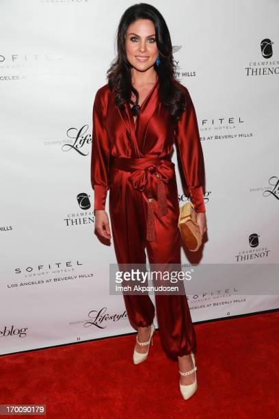 Actress Nadia Bjorlin attends the Beverly Hills Lifestyle 5 Year Celebration at Sofitel Hotel on June 6, 2013 in Los Angeles, California.