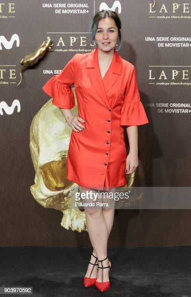 Actress Nadia de Santiago attends the 'La peste' premiere at Callao cinema on January 11 2018 in Madrid Spain