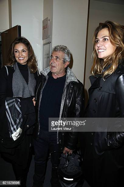 Actress Nadia Fares Actor Michel Boujenah and Actress Isabelle Funaro attend 'Un Homme et Une Femme' Screening for Its 50th Anniversary at l'Arlequin...