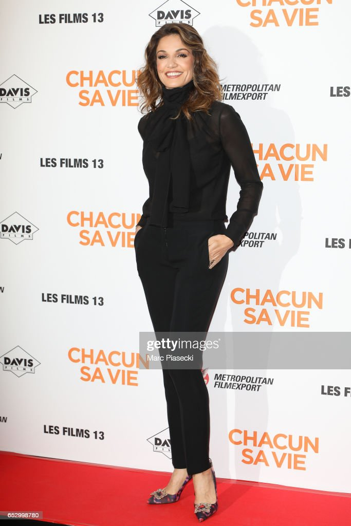 Actress Nadia Fares attends the 'Chacun sa vie' Premiere at Cinema UGC Normandie on March 13, 2017 in Paris, France.