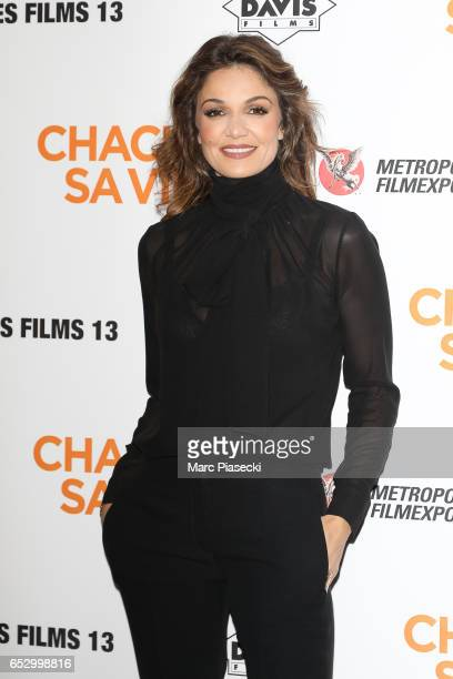 Actress Nadia Fares attends the 'Chacun sa vie' Premiere at Cinema UGC Normandie on March 13 2017 in Paris France