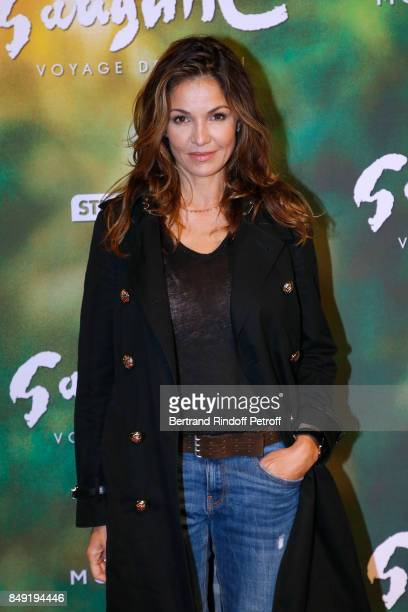 Actress Nadia Fares attends the 'Gauguin Voyage de Tahiti' Paris Premiere at Cinema Gaumont Capucine on September 18 2017 in Paris France
