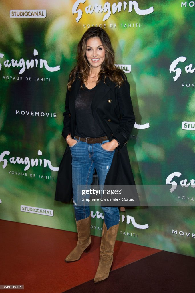 Actress Nadia Fares attends the 'Gauguin, Voyage De Tahiti' Paris Premiere at Cinema Gaumont Capucine on September 18, 2017 in Paris, France.