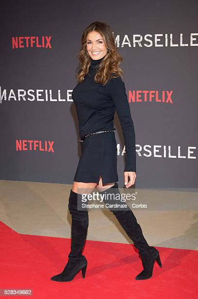 Actress Nadia Fares attends the 'Marseille' Netflix TV Serie Wold Premiere At Palais Du Pharo In Marseille on May 4 2016 in Marseille France