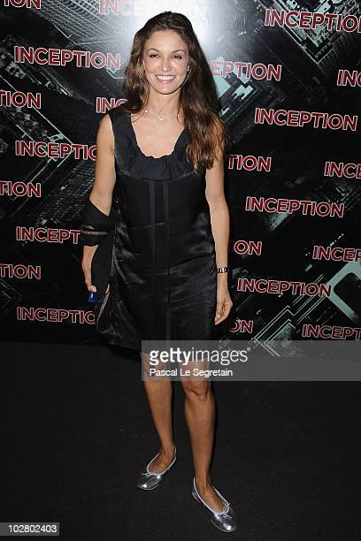 Actress Nadia Fares attends the Paris Premiere for the film 'Inception' at Gaumont Champs Elysees on July 10 2010 in Paris France