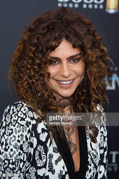Actress Nadia Hilker attends the Allegiant New York premiere at AMC Lincoln Square Theater on March 14 2016 in New York City