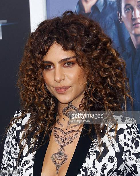 Actress Nadia Hilker attends the Allegiant New York premiere at AMC Loews Lincoln Square 13 theater on March 14 2016 in New York City