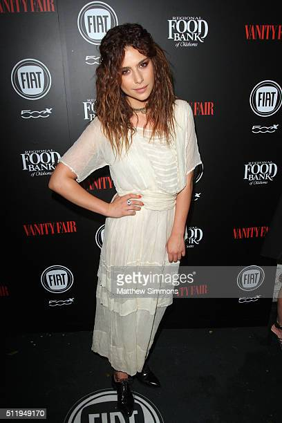 Actress Nadia Hilker attends Vanity Fair and FIAT Toast To Young Hollywood at Chateau Marmont on February 23 2016 in Los Angeles California