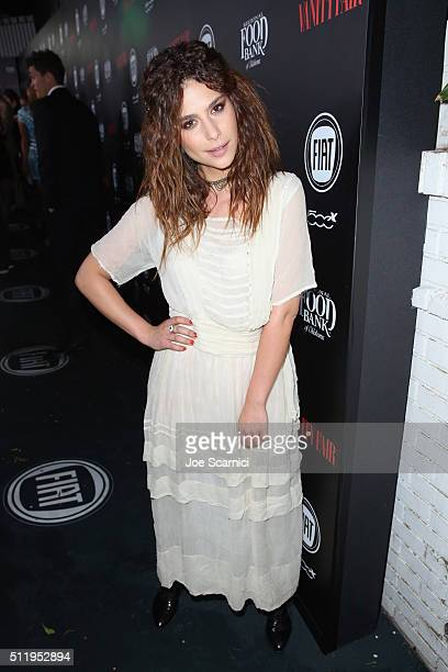 Actress Nadia Hilker attends Vanity Fair and FIAT Young Hollywood Celebration at Chateau Marmont on February 23 2016 in Los Angeles California