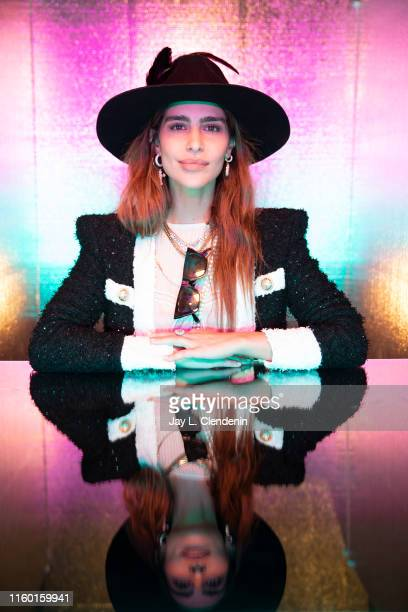 Actress Nadia Hilker of 'The Walking Dead' is photographed for Los Angeles Times at ComicCon International on July 19 2019 in San Diego California...