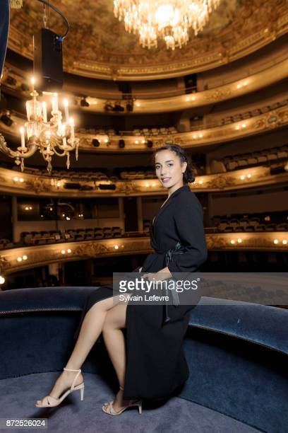 Actress Nadia Kounda is photographed for Self Assignment on October 2 2017 in Namur France