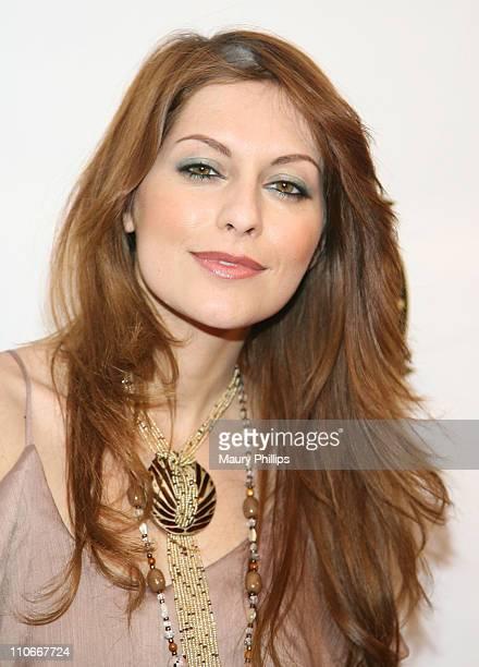 Actress Nadia Lanfranconi arrives at 2011 LA Fashion Week Fashion Minga at BOULEVARD3 on March 18 2011 in Los Angeles California