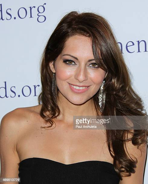 Actress Nadia Lanfranconi attends the Mending Kids International's Rock Roll AllStars fundraising event on February 14 2014 in Hollywood California