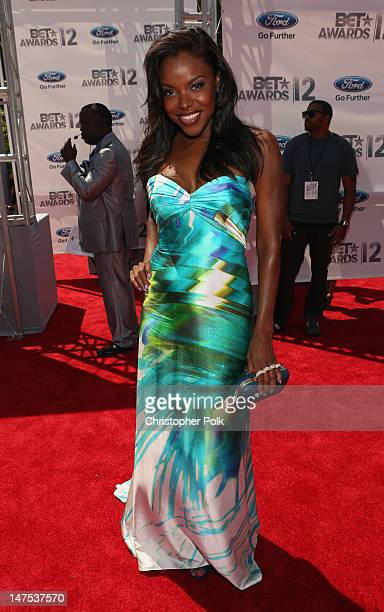 Actress Nadine Ellis arrives at the 2012 BET Awards at The Shrine Auditorium on July 1 2012 in Los Angeles California