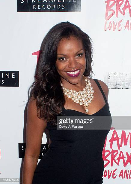 Actress Nadine Ellis arrives at Xen Lounge for a Night To Celebrate Tamar Braxton's GRAMMY Nominations on January 26 2014 in Los Angeles California