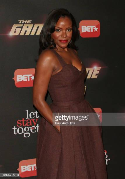 Actress Nadine Ellis attends BET's premiere party for The Game and Let's Stay Together at The Hollywood Roosevelt Hotel on January 5 2012 in...