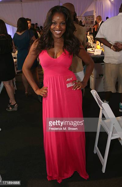 Actress Nadine Ellis attends Radio Remote Room Day 2 during the 2013 BET Awards at JW Marriot at LA Live on June 29 2013 in Los Angeles California