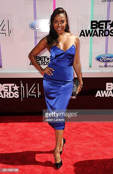 Actress Nadine Ellis attends the 2014 BET Awards at Nokia Plaza LA LIVE on June 29 2014 in Los Angeles California