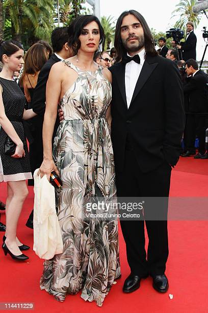 Actress Nadine Labaki and Khaled Mouzanar attend the The Skin I Live In premiere at the Palais des Festivals during the 64th Cannes Film Festival on...