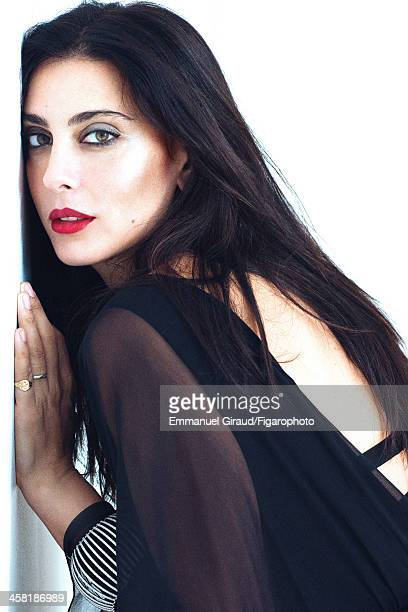 Actress Nadine Labaki is photographed for Madame Figaro on September 27, 2013 in Paris, France. Outfit , bracelet and Ice Cube ring . CREDIT MUST...