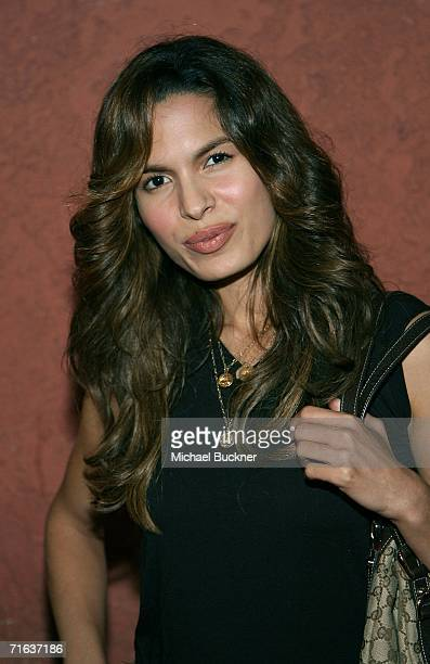 Actress Nadine Velazquez arrives at the AIDS Healthcare Foundation Hot In Hollywood Party at the Henry Fonda Theatre on August 12 2006 in Los Angeles...