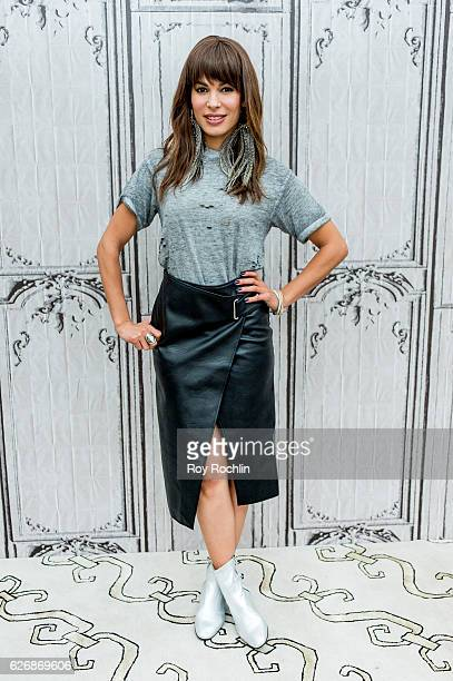 """Actress Nadine Velazquez discusses """"The Bounce Back"""" during the Build Series at AOL HQ on November 30, 2016 in New York City."""